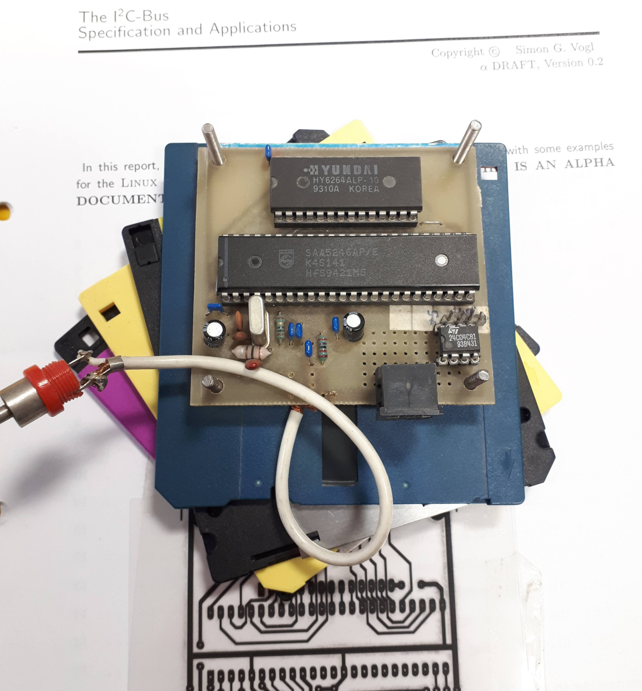 SAA5246 teletext decoder / i2c-bus project